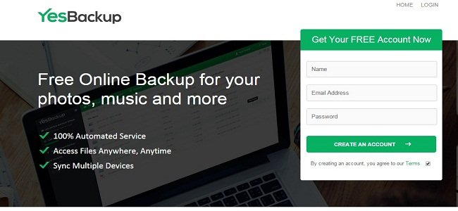 Yesbackup review