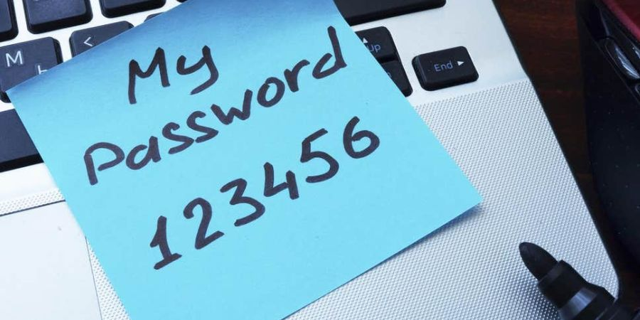 Password with Sticky Note