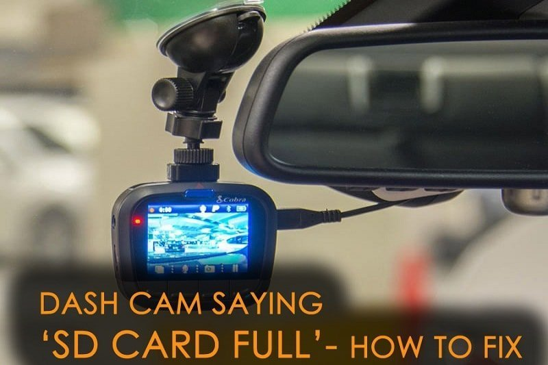 Dash cam storage is full