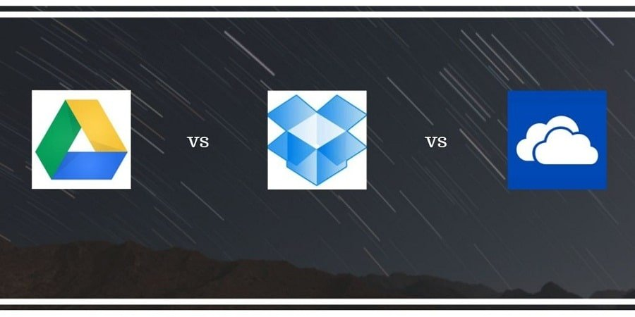 Conclusion of Google drive vs Dropbox vs Onedrive