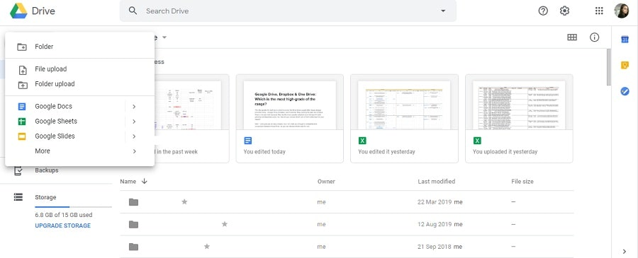Screenshot 22 - Google Drive offer great range of office software