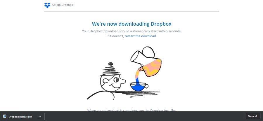 Download the Dropbox installer