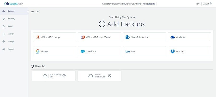 Pick Cloud Storage Platform to Backup on CloudAlly