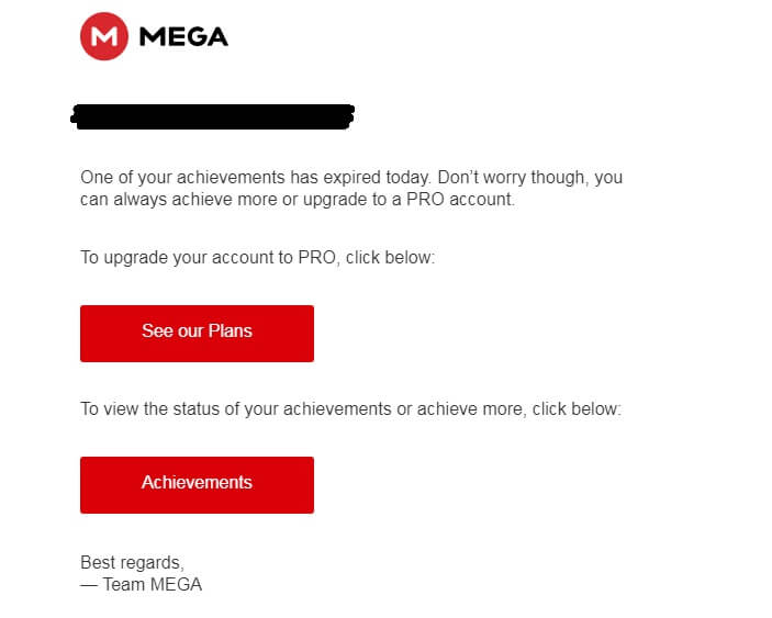 Mega Achievements expired