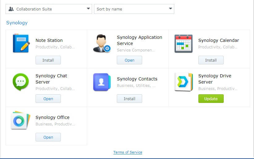 Collaborative Suite from Synology